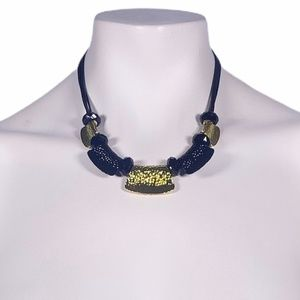 NWT Gold-Tone & Black Small Adjustable Necklace